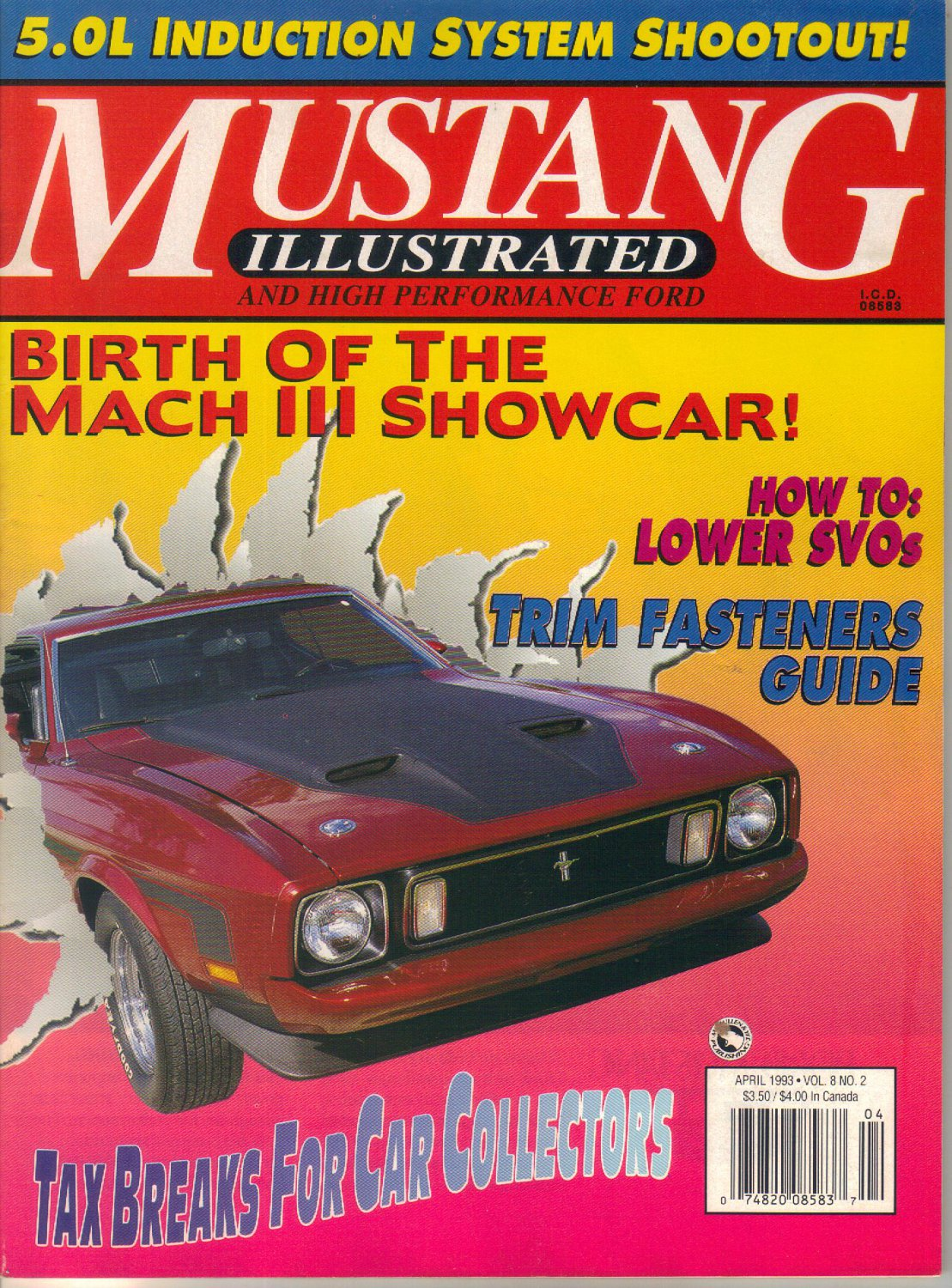 Mustang Illustrated and High Performance Ford Magazine-April 1993-Mach III Mustang show car