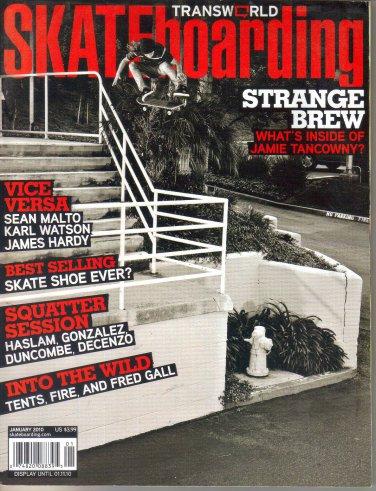 Transworld Skateboarding Magazine January 2010-Baby Jamie Tancowny-Chris Haslam-Jamie Thomas