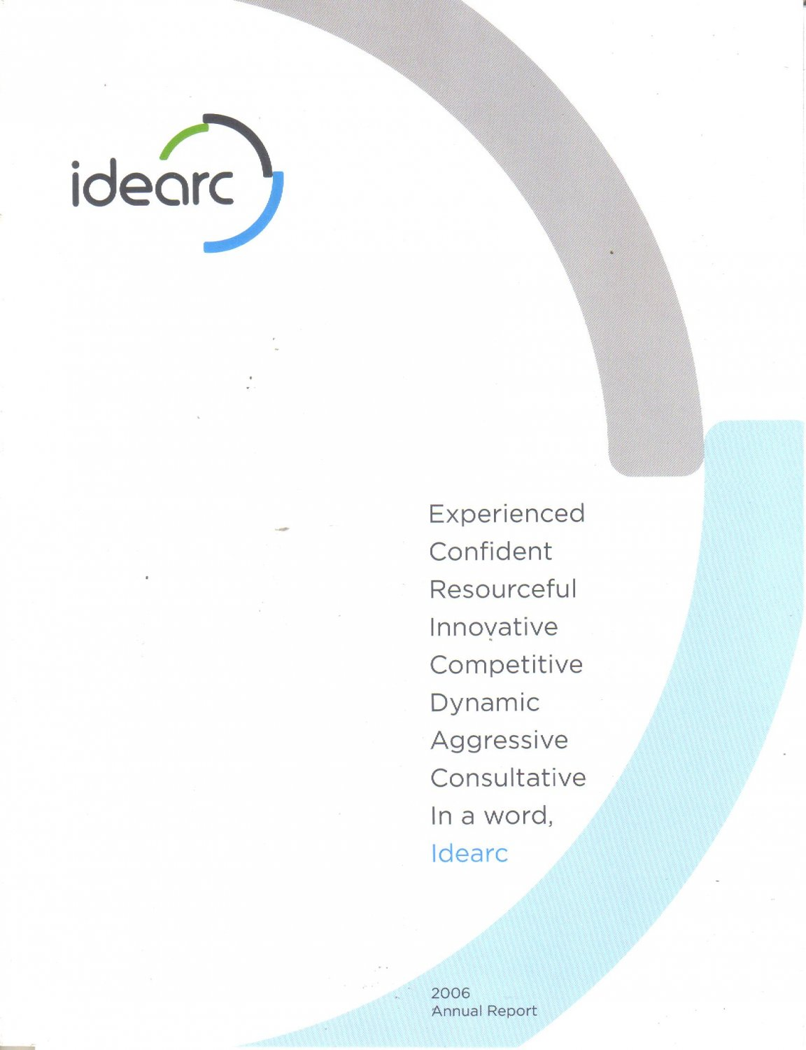 IDEARC INC 2006 ANNUAL REPORT Shareholder Welcome Annual Meeting Notice April 19 2007