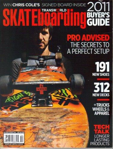 Transworld Skateboarding Magazine-2011 Buyer's Guide-Chris Cole-Andrew Brophy-Chris Haslam