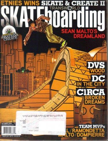 Transworld Skateboarding Magazine October 2009-Sean Malto-Torey Pudwill-Andrew Brophy