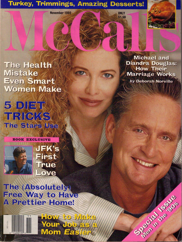 MCCALL'S November 1992 Magazine Michael Diandra Douglas JERRY HALL Mccalls