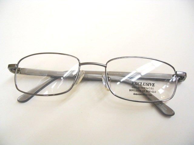 Exclusive 123 Gunmetal eyeglass frame 53-19-140 R$95