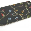 Black slip in case with Floral stitch