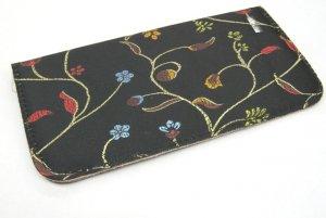 Black slip in case with Floral stitch