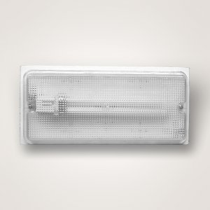 Wall or Ceiling Small Fluorescent Light Fixture with Clear Prismatic ...