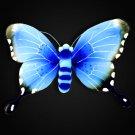Butterfly Wall Decor Nylon 3D Hanging Art for Girls Bedroom Nursery - Blue