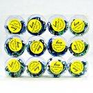 Poly-Elastic Hair Rubber Bands - Blue Large 12 packs of 50 pcs/pk - Braids Dreds PonyTails_144-15A