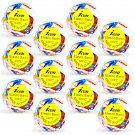 Poly-Elastic Hair Rubber Bands - Multi-Color Large 12 packs of 50 pcs/pk - Braids PonyTails_144-18A