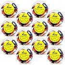 Poly-Elastic Hair Rubber Bands - Patriotic Large 12 packs of 50 pcs/pk - Braids PonyTails_144-19A