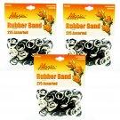 Hair Rubber Bands -  825 pcs Black & White 3 packs of 275 pcs/pk for Braids Dreds PonyTails_144-08BW