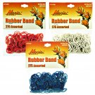 Hair Rubber Bands - Red White & Blue 3 packs of 275 pcs/pk for Braids Dreds PonyTails_144-08RWB
