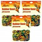 Hair Rubber Bands - 825 pcs Multi-Color 3 packs of 275 pcs/pk - Magic Brand _61-020