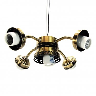 Fan light kit straight arm 5 lamp with pull switch antique brass ceiling fan light kit straight arm 5 lamp with pull switch antique brass 236 l03ab aloadofball Image collections