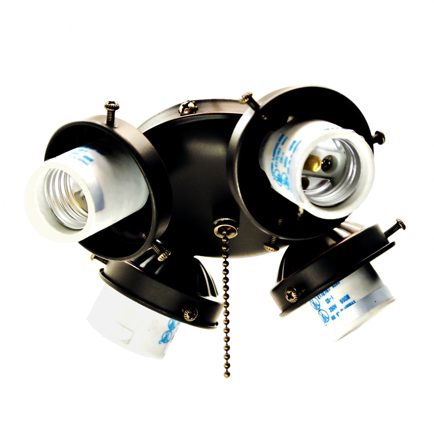 Ceiling Fan Light Kit 4 Lamp Turtle Fitter With Pull Switch Oil Rubbed Bronze 236 L02