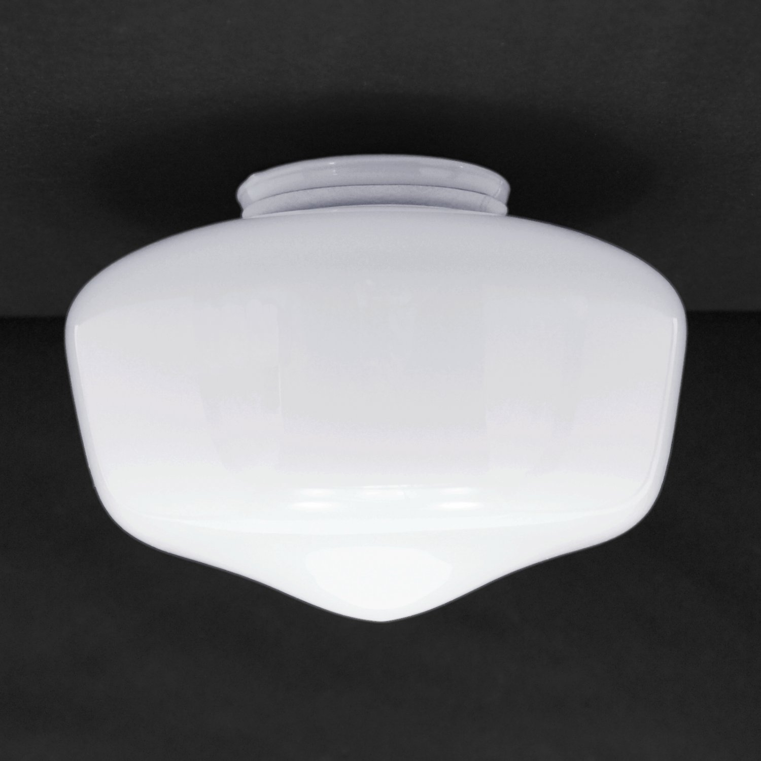 School house globe 7 white glass shade for ceiling fan light kits school house globe 7 white glass shade for ceiling fan light kits with 325 fitter 236 g10 mozeypictures Images