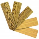"Replacement Blades for 52"" Ceiling Fan Reversible Pecan and Teak 5-pack _236-B01"