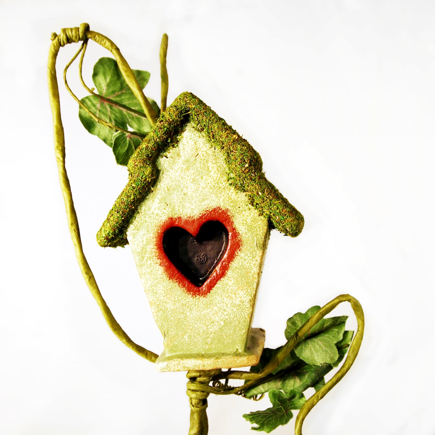 Artificial birdhouse on vine for craft projects floral for Vine craft ideas