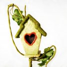 Artificial Birdhouse on Vine for Craft Projects & Floral Arrangements _168-012