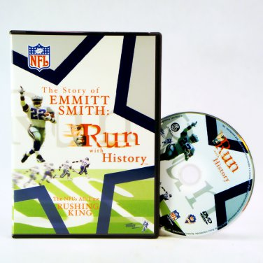 """""""The Story of Emmitt Smith: Run with History"""" Official NFL Films Factory Sealed DVD _168-014"""