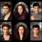 Twilight Eclipse Movie Magnets featuring Bella Jacob and Edward - 6 pack _3130