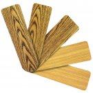 "Replacement Blades for 52"" Ceiling Fan Reversible Medium Oak and Teak 5-pack _236-B00"