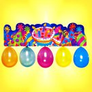 "Fun Party Pack with 35"" x 10"" Colorful Birthday Banner w/ 5 Balloons _187-18"