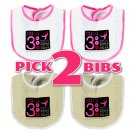 Baby Bibs Gift Set of 2 Susan G Komen 3 Day Race for the Cure - U Choose Colors  _9110