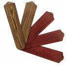"Replacement Blades for 52""-54"" Ceiling Fan Reversible Dark Oak / Mahogany 5-pack _328-B03"