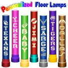 "Personalized Floor Lamp 36"" Tall - Cutouts of Your Choice of Design and Lettering"