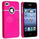 DELUXE Pink CASE COVER W/CHROME FOR Apple iPhone 4 4G 4S NEW Verizon AT&T Sprint