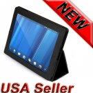 Black Leather Case Cover With Stand For HP TouchPad tablet new