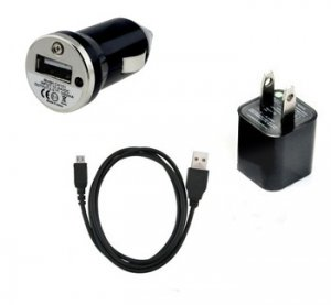 USB Data Cable+AC Wall Charger+Car Charger For HTC EVO 3D My Touch 4G Evo 4 Shift