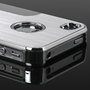 Luxury Steel Chrome Deluxe Case For apple iPhone 4 s 4g 4th gen 4S
