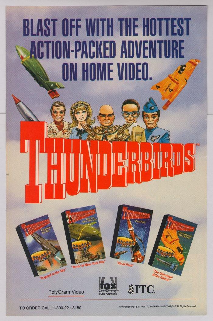 Thunderbirds PRINT AD British TV supermarionation Gerry Anderson advertisement '90s 1994