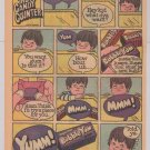 Bubble Yum PRINT AD Behind the Candy Counter '80s Nabisco chewing gum comic advertisement 1982