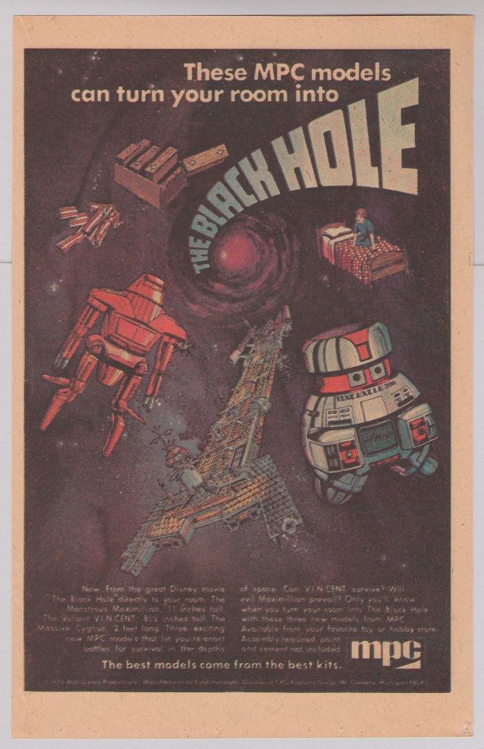 The Black Hole movie MPC model kits PRINT AD Disney models '70s vintage advertisement 1979
