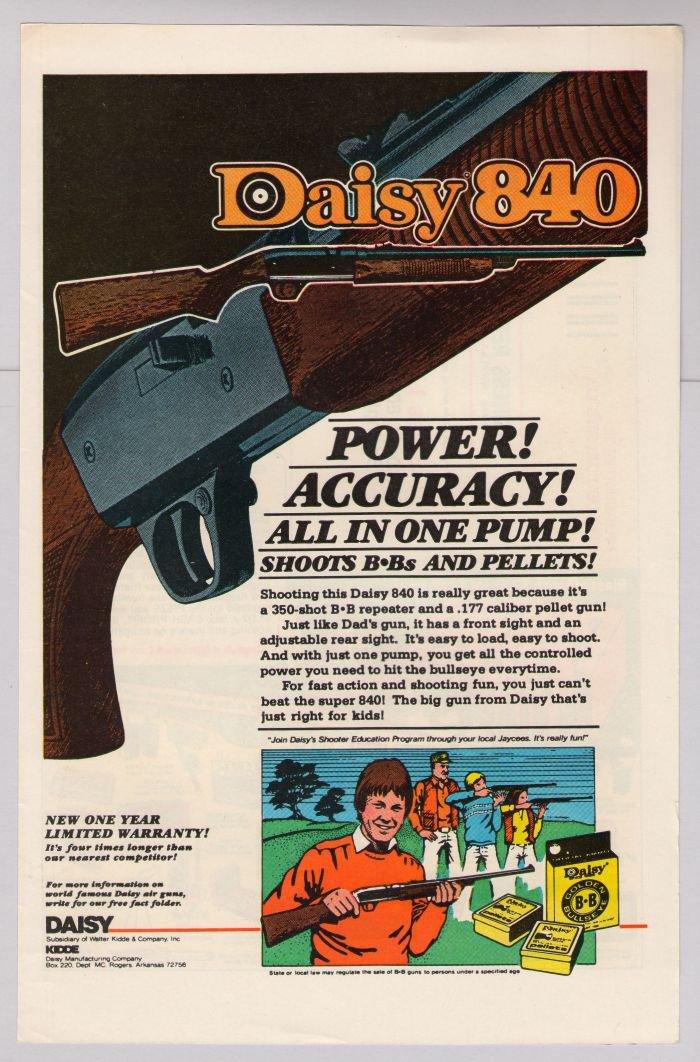 Vintage Daisy 840 BB Gun Instruction Manual Toy Advertising Art ...