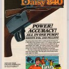 Daisy 840 BB gun PRINT AD air gun rifle vintage advertisement 1980