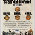 MPC model kits PRINT AD Golden Opportunity tokens models '80s vintage advertisement 1982