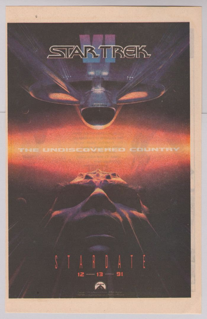 Star Trek VI movie PRINT AD The Undiscovered Country '90s movie advertisement 1991