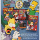 Krusty's Fun House PRINT AD Simpsons video game '90s advertisement NES SNES 1992