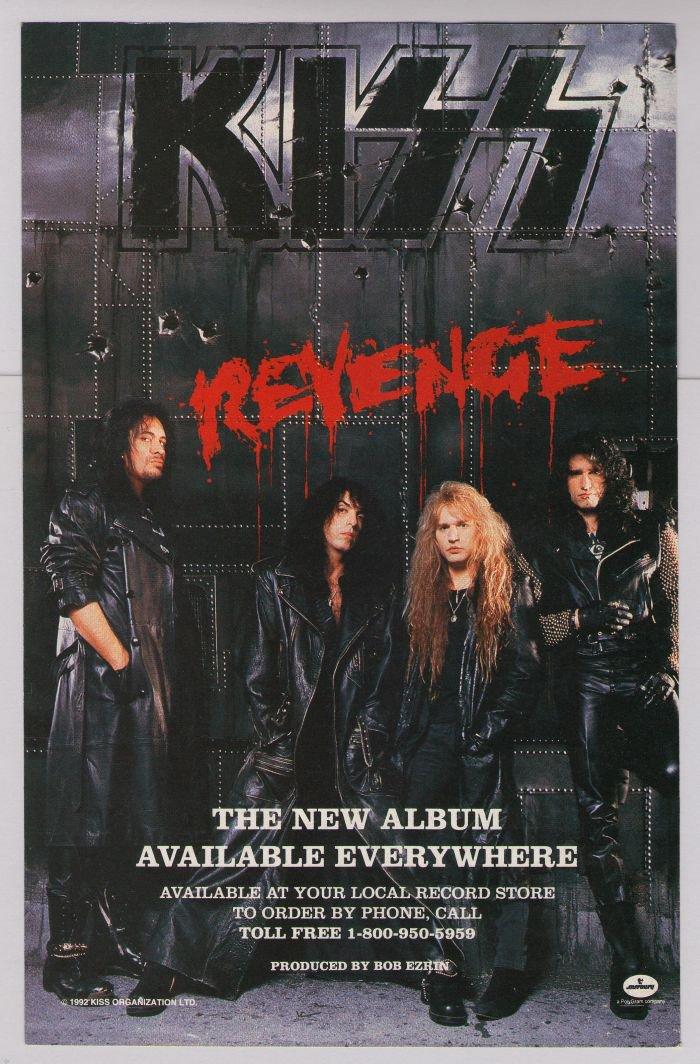KISS Revenge album PRINT AD Mercury '90s advertisement 1992