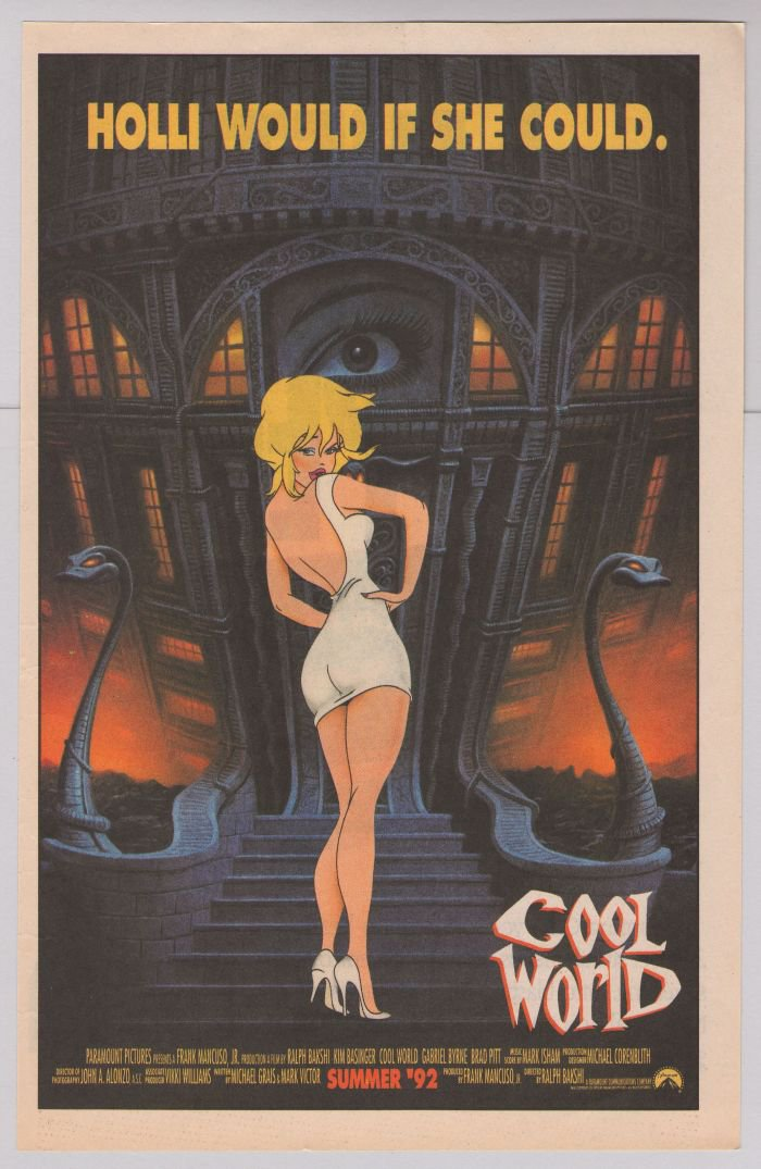 Cool World Kim Basinger RALPH BAKSHI movie PRINT AD '90s animation advertisement 1992