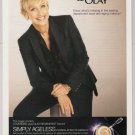 ELLEN DEGENERES Covergirl PRINT AD makeup Olay Regenerist advertisement 2010