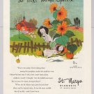 St. Marys Blankets '50s PRINT AD sheep sunflowers schoolhouse Eness 1953