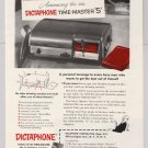 Dictaphone Time-Master 5 PRINT AD '50s dictating machine advertisement vintage 1953