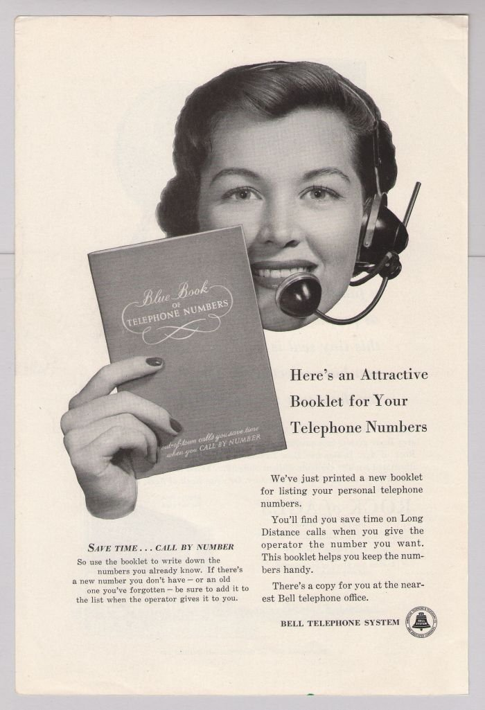 Bell Telephone '50s operator vintage advertisement original ad 1953