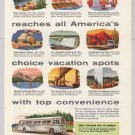 Greyhound '50s PRINT AD transportation bus travel vintage advertisement 1953