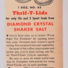 Thrif-T-Lids '40s PRINT AD Diamond Crystal Uncle Sam canning vintage advertisement 1944